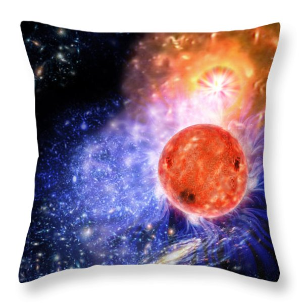 Cosmic Evolution Throw Pillow by Don Dixon