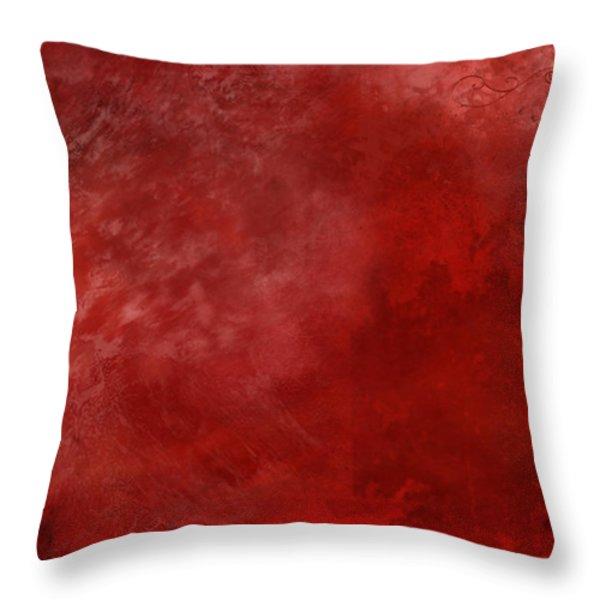 Crimson China Throw Pillow by Christopher Gaston