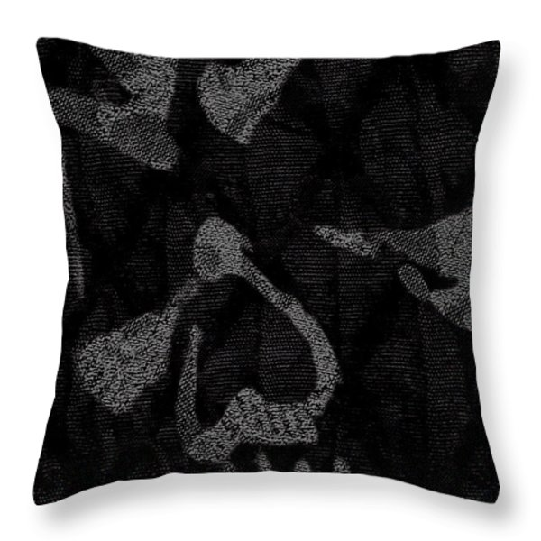Dark Skull Throw Pillow by Roseanne Jones