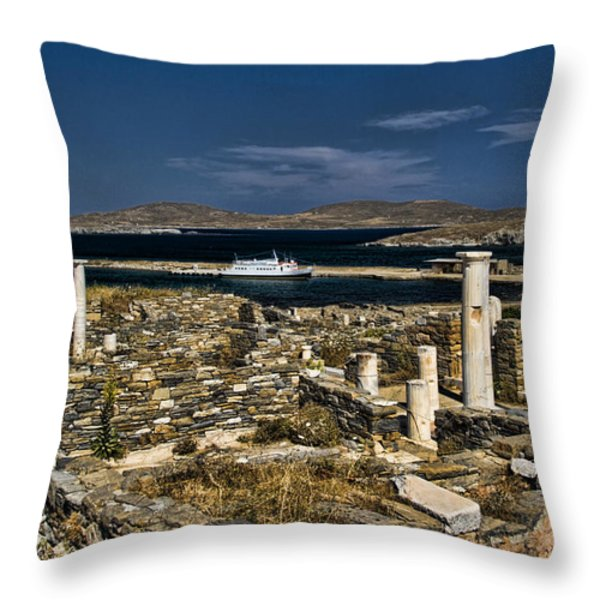Delos Island Throw Pillow by David Smith