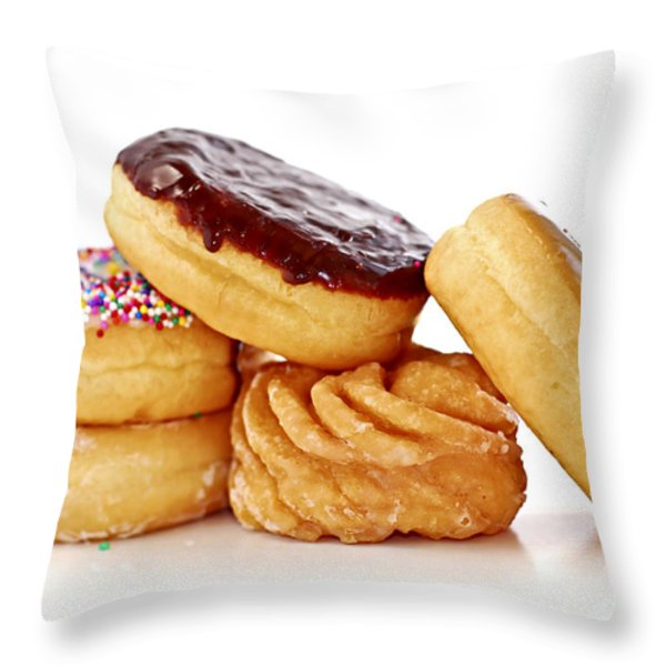 Donuts Throw Pillow by Elena Elisseeva