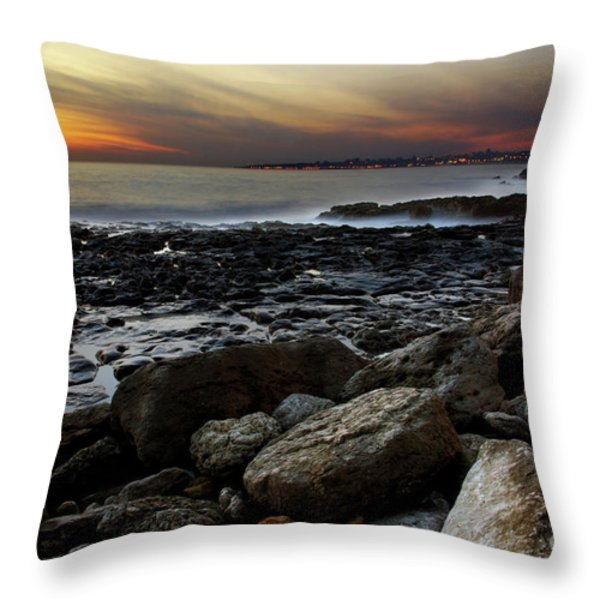 Dramatic Coastline Throw Pillow by Carlos Caetano