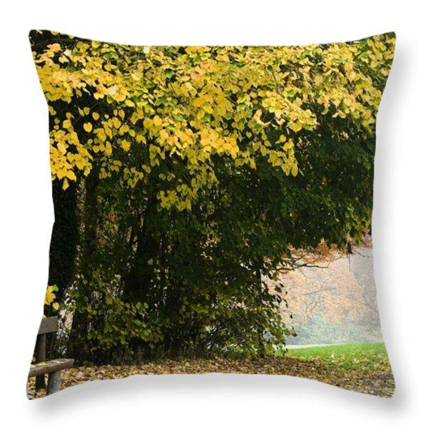 Dun Na Ri Forest Park, County Cavan Throw Pillow by Peter McCabe