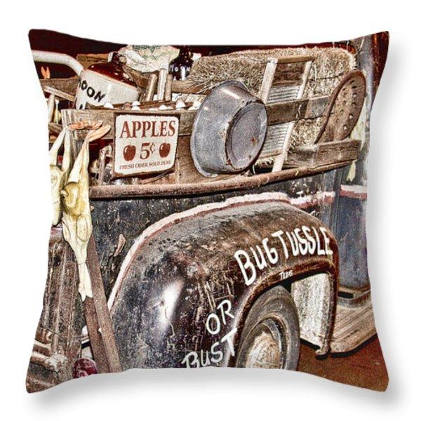 Eddie Bauer Bug Tussle Pick Up Throw Pillow by Douglas Barnard