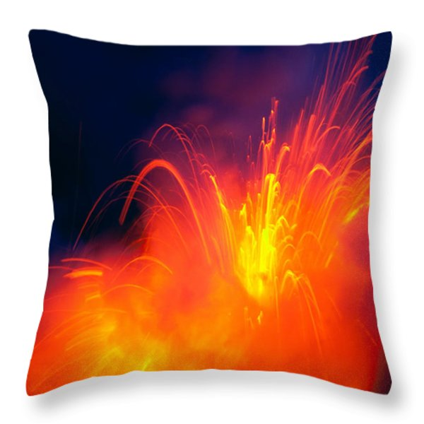 Exploding Lava Throw Pillow by Greg Vaughn - Printscapes