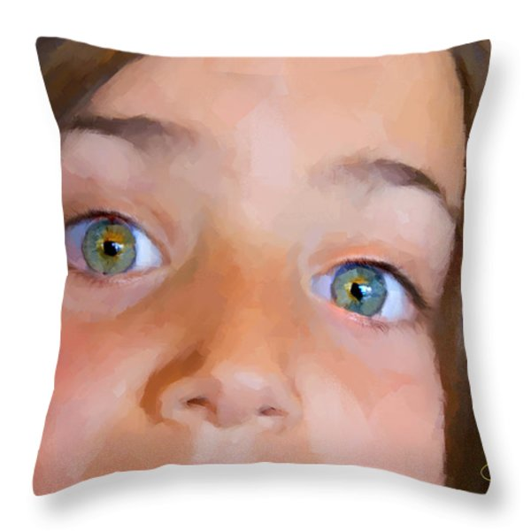 Eyes Have It Throw Pillow by Chuck Staley