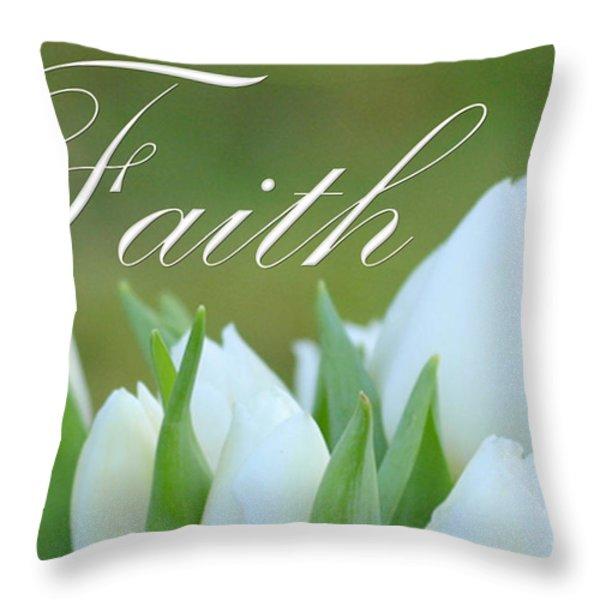 Faith Throw Pillow by Lj Lambert