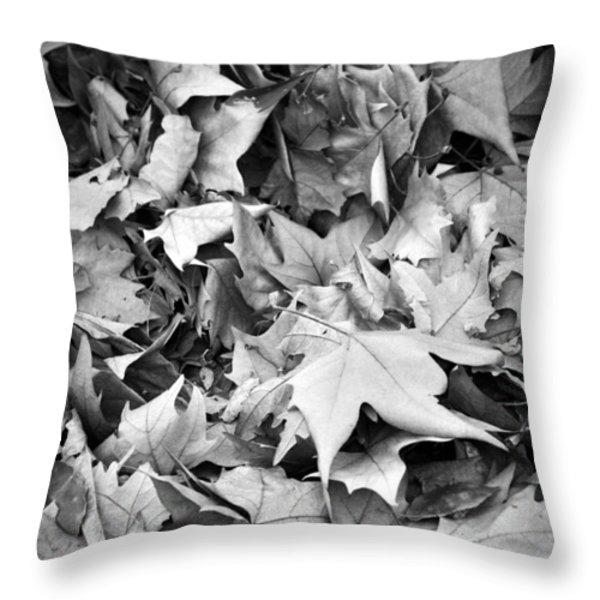 Fallen leaves Throw Pillow by Fabrizio Troiani