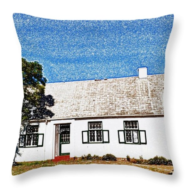 Farm House Throw Pillow by Werner Lehmann