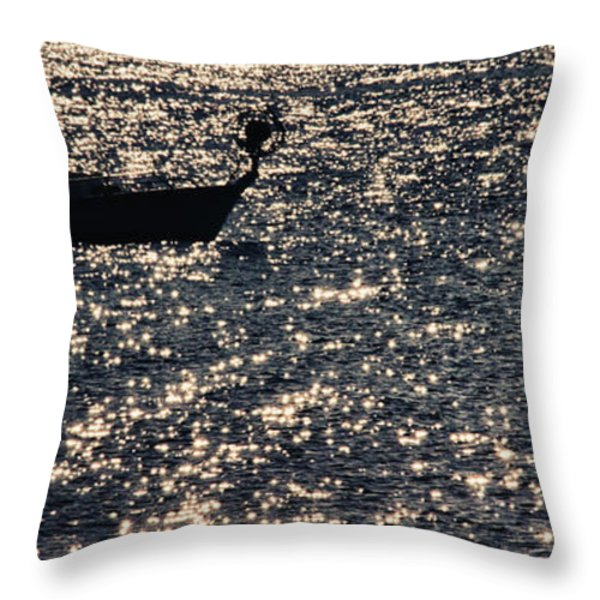 Fisherman Throw Pillow by Stylianos Kleanthous