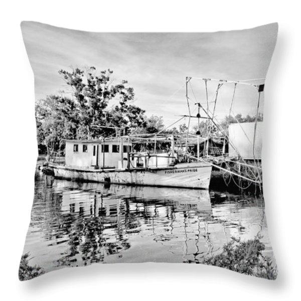 Fisherman's Pride Throw Pillow by Scott Pellegrin