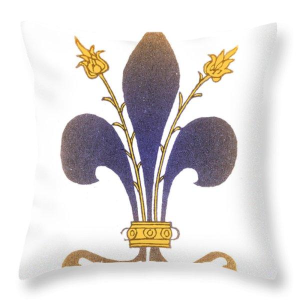 Fleur-de-lis Throw Pillow by Science Source