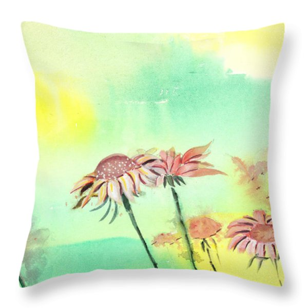 Flowers 2 Throw Pillow by Anil Nene