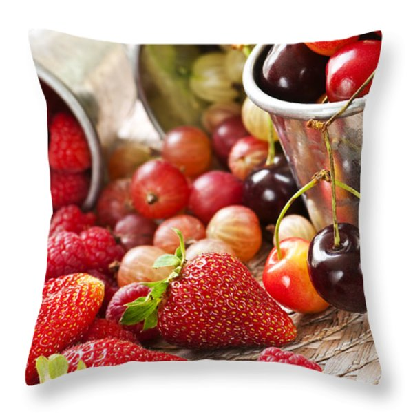 Fruits and berries Throw Pillow by Elena Elisseeva