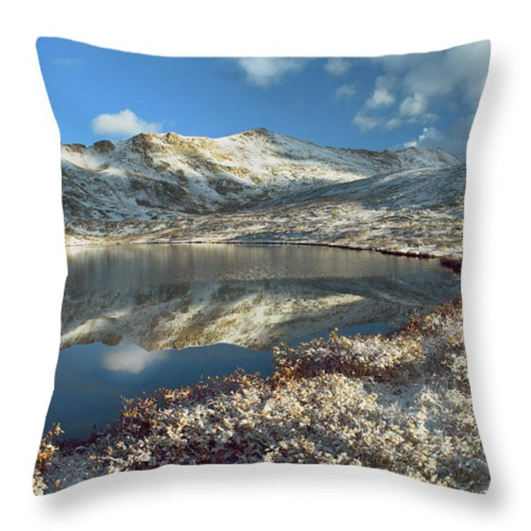 Geissler Mountain And Linkins Lake Throw Pillow by Tim Fitzharris