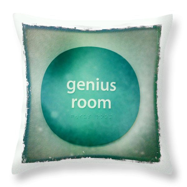Genius Room Throw Pillow by Nina Prommer