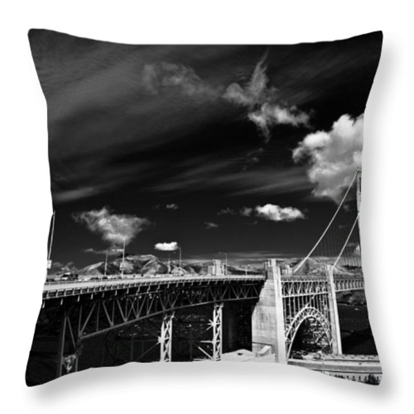 Golden Gate Throw Pillow by Ralf Kaiser