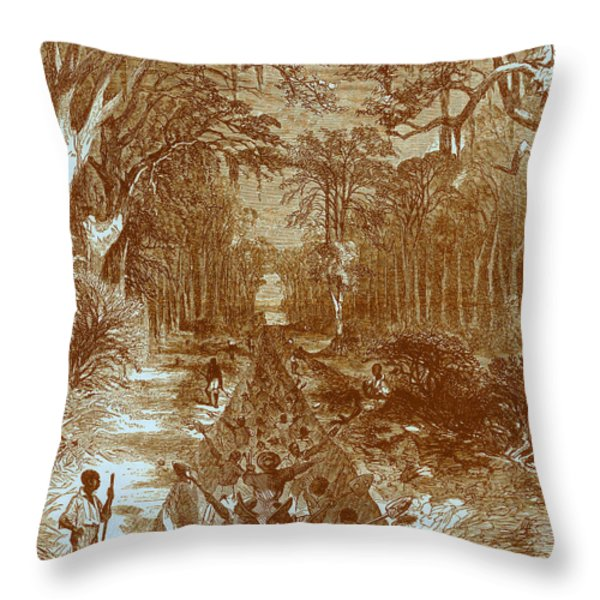 Grants Canal, 1862 Throw Pillow by Photo Researchers