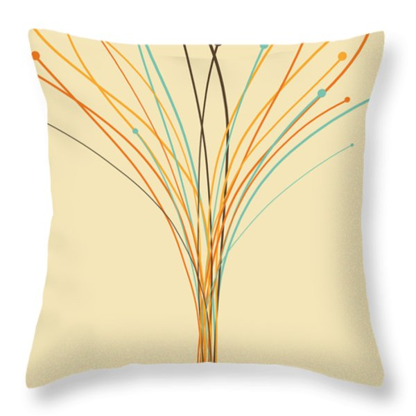Graphic Tree Throw Pillow by Setsiri Silapasuwanchai