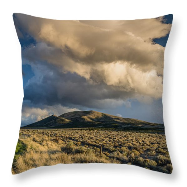 Great Basin Cloud Throw Pillow by Greg Nyquist