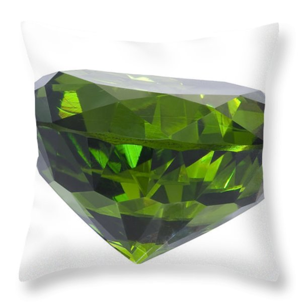 great emerald isolated Throw Pillow by ATIKETTA SANGASAENG