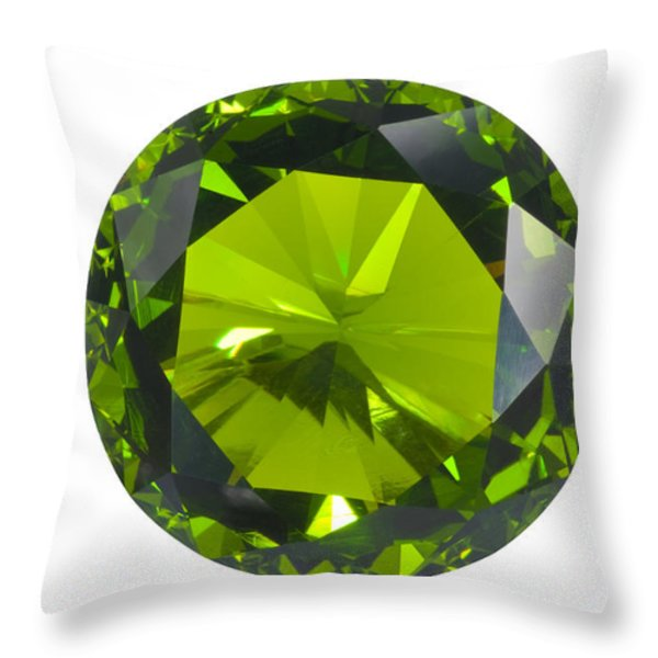 green gem isolated Throw Pillow by ATIKETTA SANGASAENG