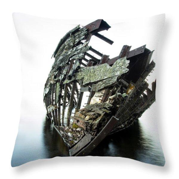 Harvey Neelon Shipwreck So They Say... Throw Pillow by Jakub Sisak