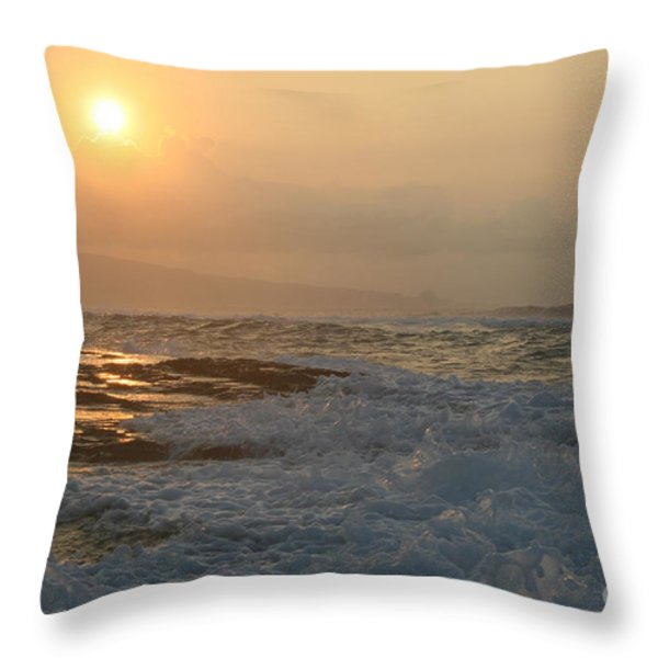 He Inoa Wehi No Hookipa Throw Pillow by Sharon Mau
