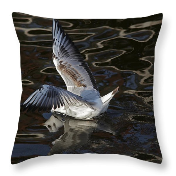 head under water Throw Pillow by Michal Boubin