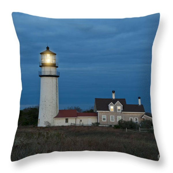 Highland Lighthouse Throw Pillow by John Greim