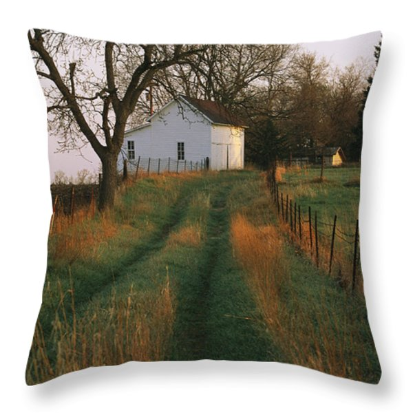 Historic Stevens Creek Farm Throw Pillow by Joel Sartore