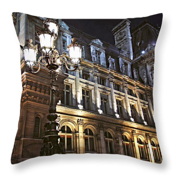 Hotel De Ville In Paris Throw Pillow by Elena Elisseeva