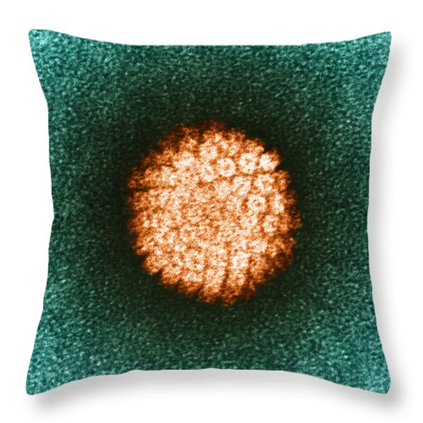 Human Papilloma Virus Hpv Throw Pillow by Science Source