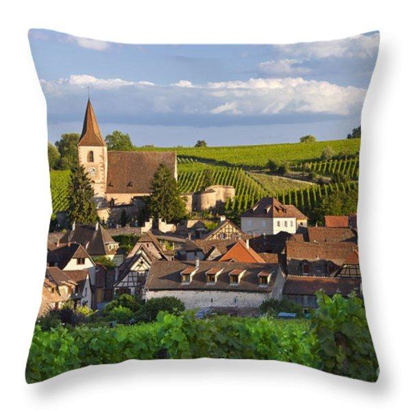 Hunawihr Alsace Throw Pillow by Brian Jannsen