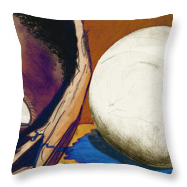 Hunger Throw Pillow by Laura Brightwood