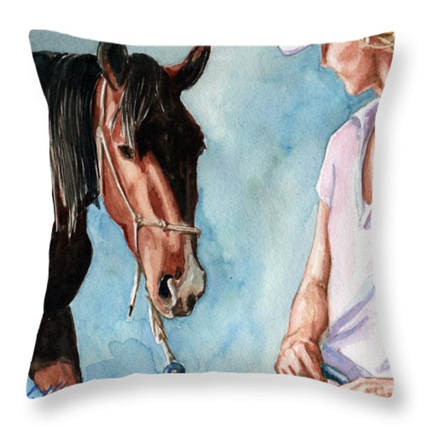 I Will Follow You Throw Pillow by Linda L Martin