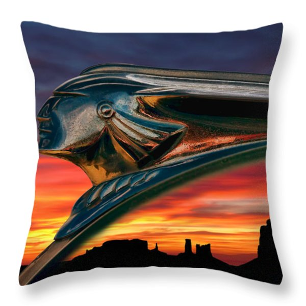 Indian Rainbow Throw Pillow by Douglas Pittman