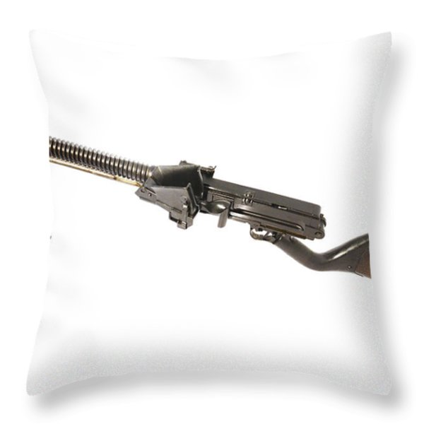 Japanese Type 11 Light Machine Gun Throw Pillow by Andrew Chittock