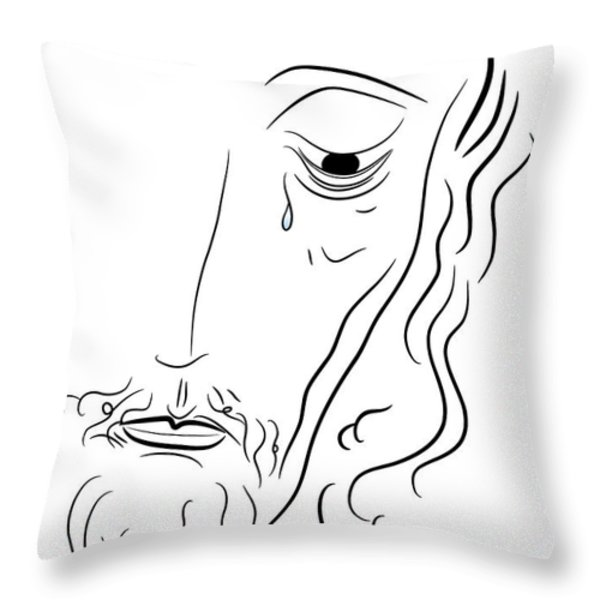 Jesus Christ Throw Pillow by Michal Boubin