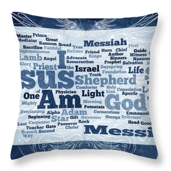 Jesus Messiah 2 Throw Pillow by Angelina Vick