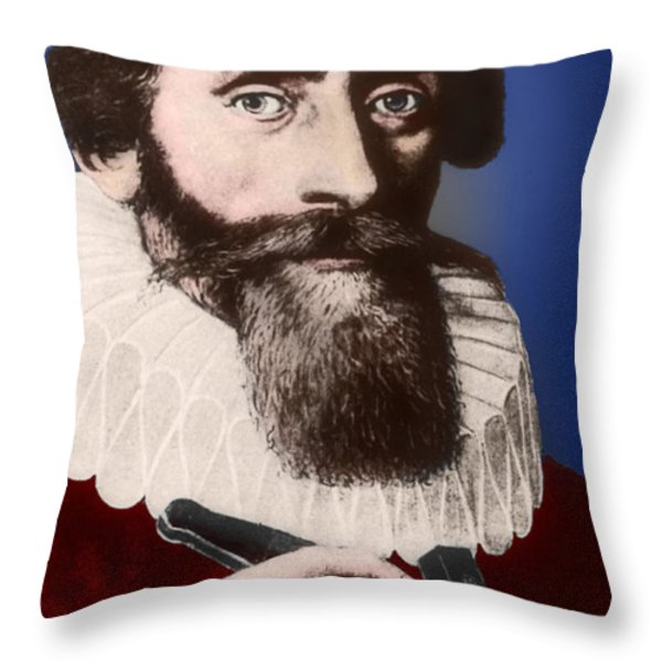 Johannes Kepler, German Astronomer Throw Pillow by Science Source