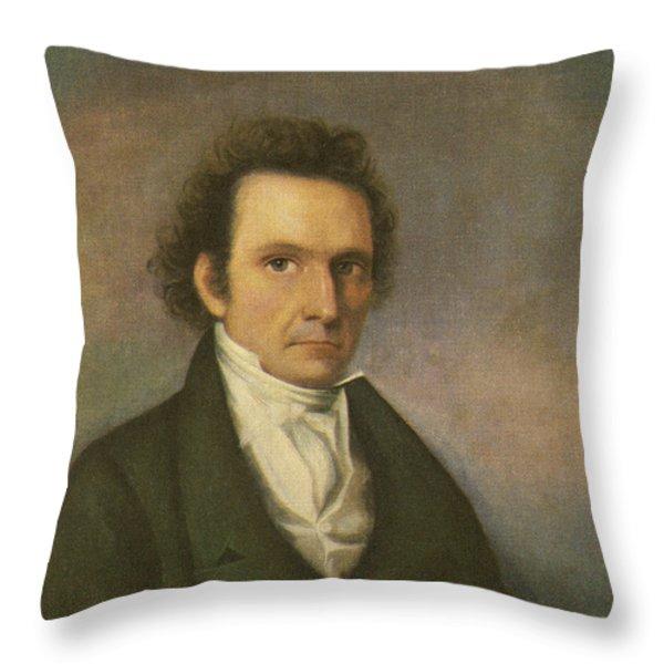 John James Audubon, French-american Throw Pillow by Photo Researchers