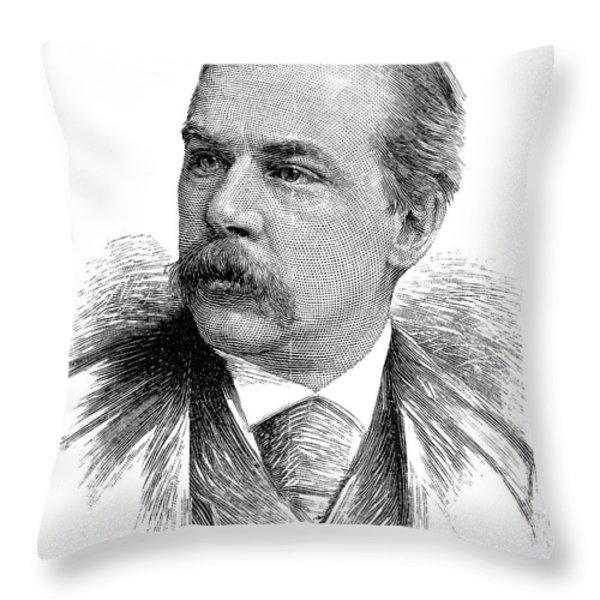 John Pierpont Morgan Throw Pillow by Granger