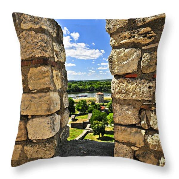 Kalemegdan fortress in Belgrade Throw Pillow by Elena Elisseeva