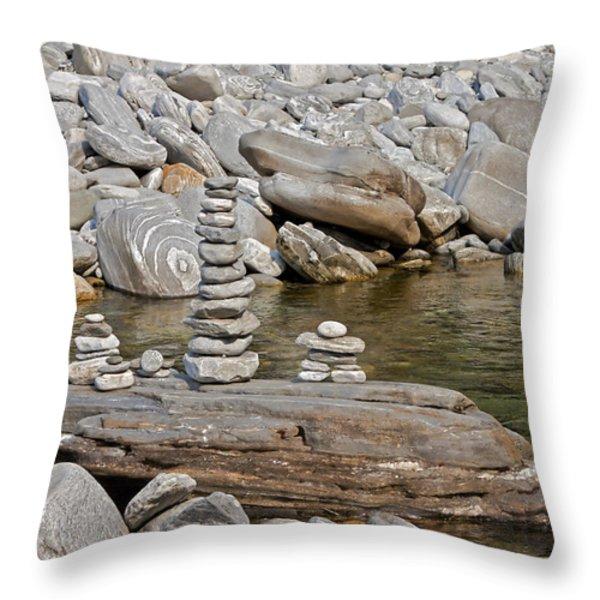 La Maggia Throw Pillow by Joana Kruse