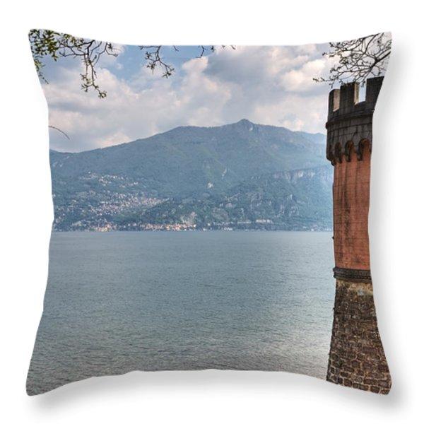 Lago di Como Throw Pillow by Joana Kruse