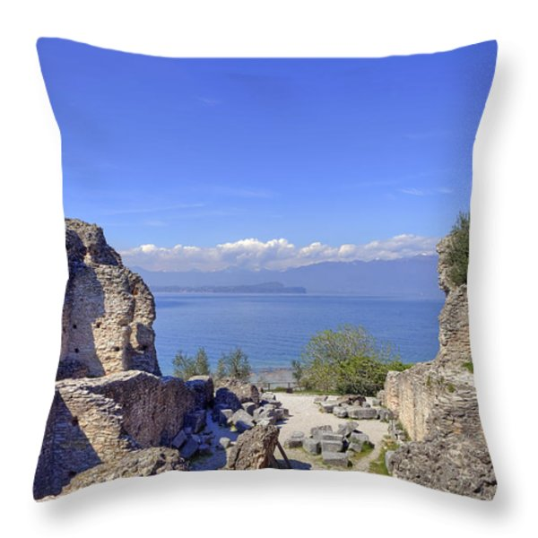 Lake Garda Throw Pillow by Joana Kruse