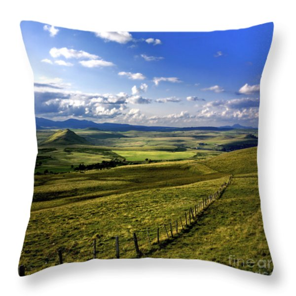landscape of Cezallier. Auvergne. France Throw Pillow by Bernard Jaubert