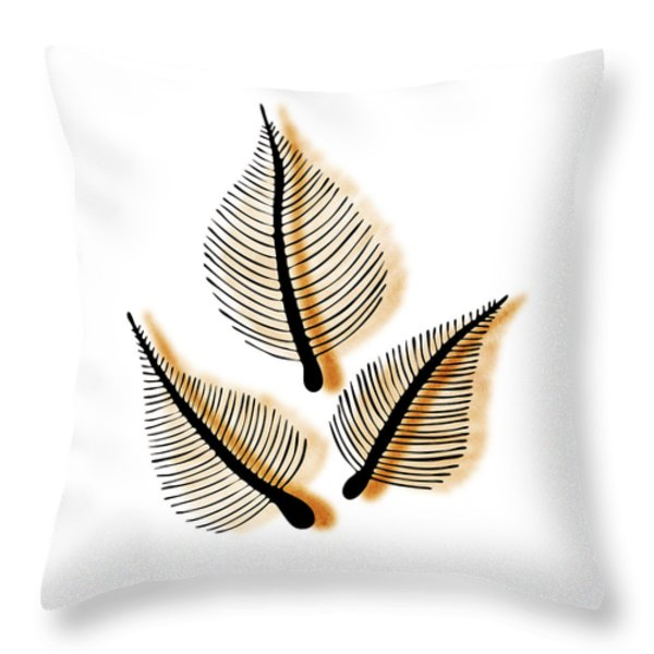 Leaves Throw Pillow by Frank Tschakert