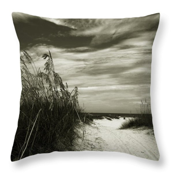 Let's go to the beach Throw Pillow by Susanne Van Hulst